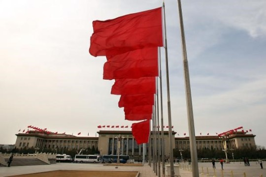 china's flags