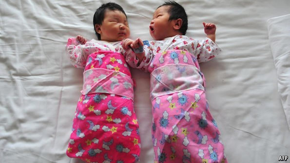 two child