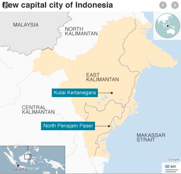 new capitol of indonesia